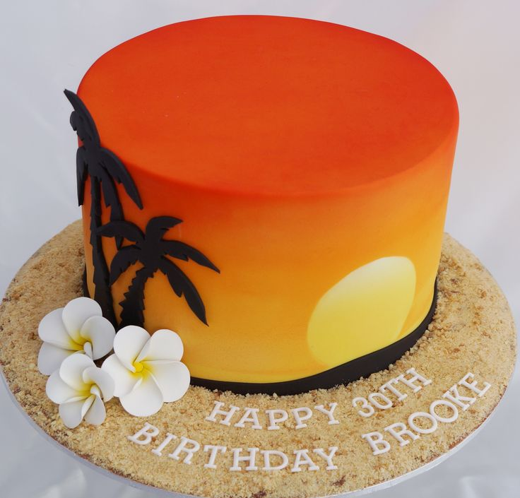 Port Douglas Sunset Cake | Kelly's Cake Toppers ...