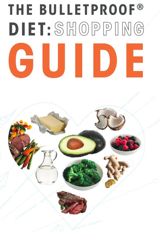 """The Bulletproof Diet: Shopping Guide"" Get a FREE grocery list of all the #healthy foods near you!"