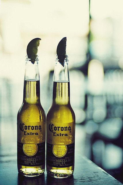 summer....nothing like a Corona after a tennis match!