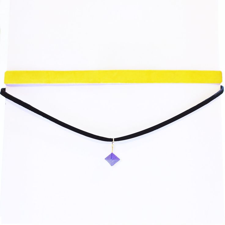 Origami Geo Thin Choker Necklace