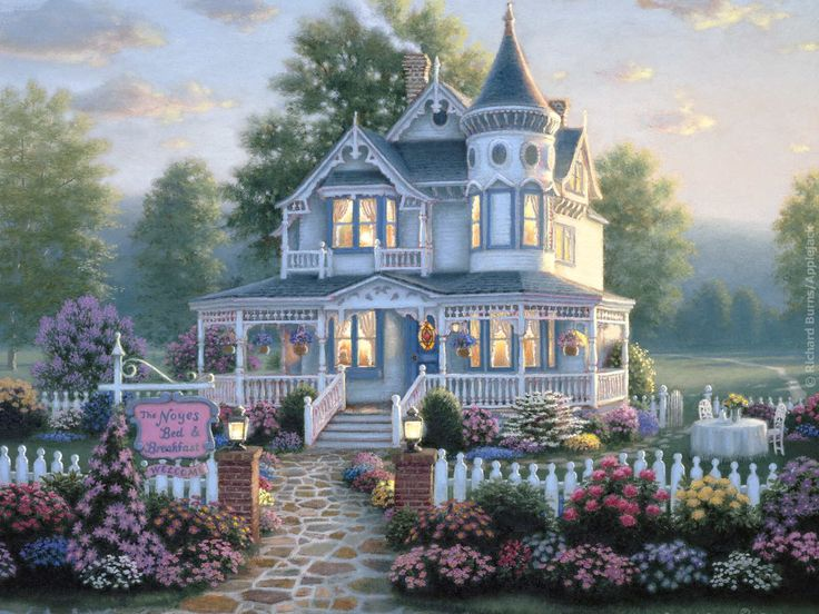 3 story victorian house with tower and wrap around pourch- just like in my book Crossroads Inn Time
