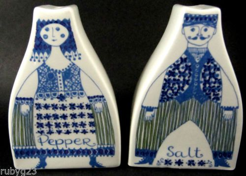 Vintage Scandinavian Turi Design Figgjo Lotte Salt Pepper Shakers Norway