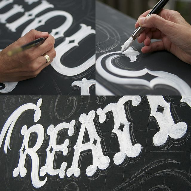Hand Lettered Sign - Work in Progress | Flickr - Photo Sharing!