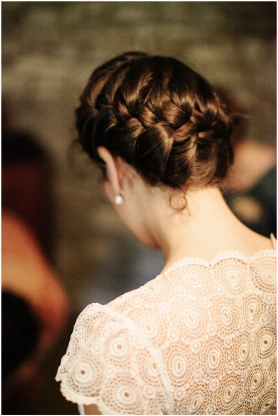 A few things that caught my eye today … this beautiful but simple braid updo photographed by louisa bailey via louisa bailey weddings a stunning emerald cut diamond ring | photo by amanda hein | via style me pretty   love the back of this carolina herrera wedding gown | photo by josh gruetzmacher via once wed beautiful …
