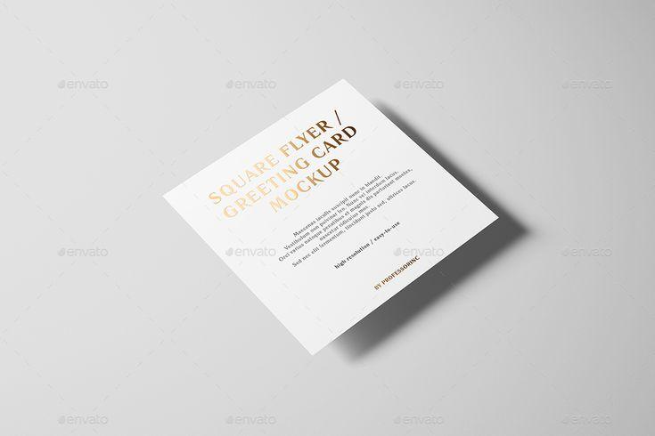 Square Flyer Mockup - Foil Stamping Edition #Mockup, #Flyer, #Square, #Edition