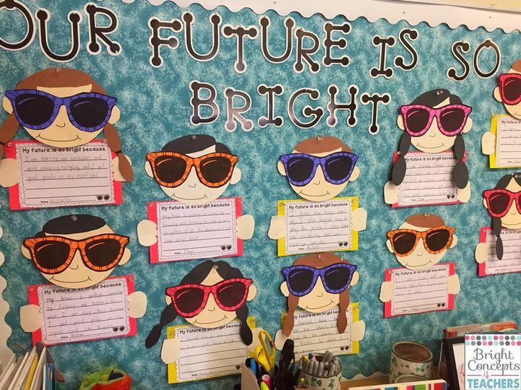 Adorable bulletin board for Open House or End of the Year