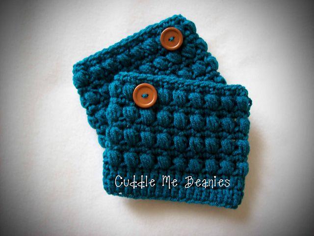 Crochet Hat Patterns With Cuff : Puff Boot Cuff Crochet Pattern pattern by April Bennett ...