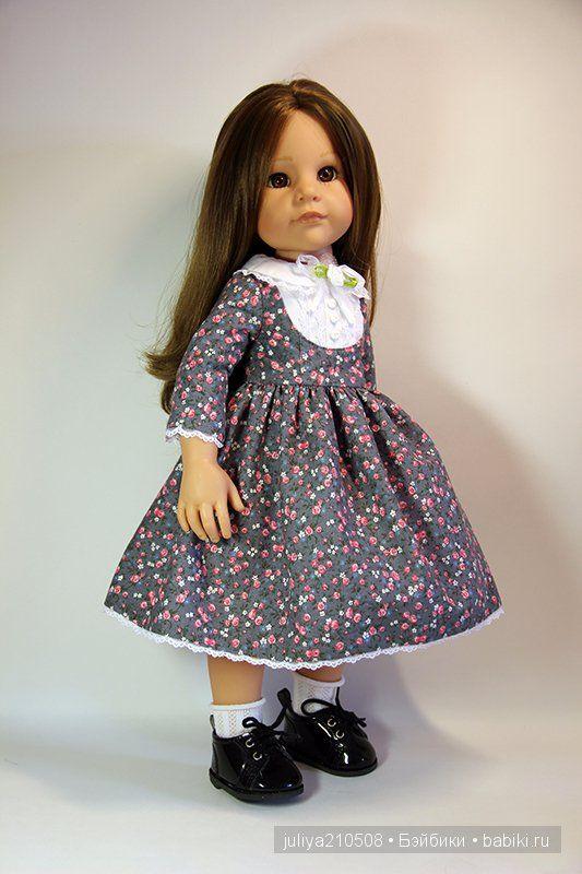 Нежное платье в цветочек для кукол Готц 50 см / Одежда для кукол / Шопик. Продать купить куклу / Бэйбики. Куклы фото. Одежда для кукол