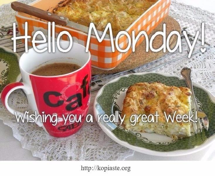 Good morning! Wishing you a really great week!  Καλημέρα και καλή βδομάδα!  #Δευτέρα #Monday