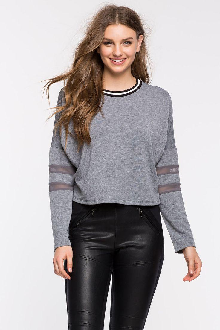 Свитшот Размеры: S, M, L Цвет: серый, кремовый, черный Цена: 877 руб.     #одежда #женщинам #свитшоты #коопт
