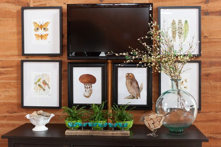 How To Decorate Around a Wall Mounted TV With Artwork