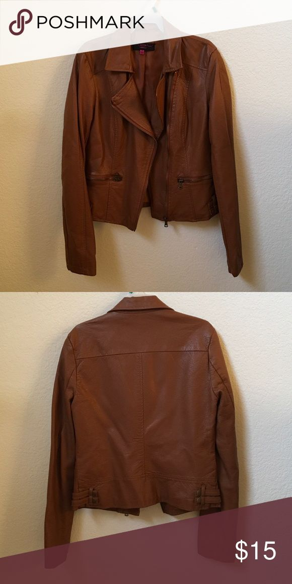 Leather jacket Worn once. Tan colored leather jacket. New Look Jackets & Coats