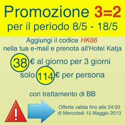 ONLY $49.50/€38,00 for day for person: for three days only 114€!!