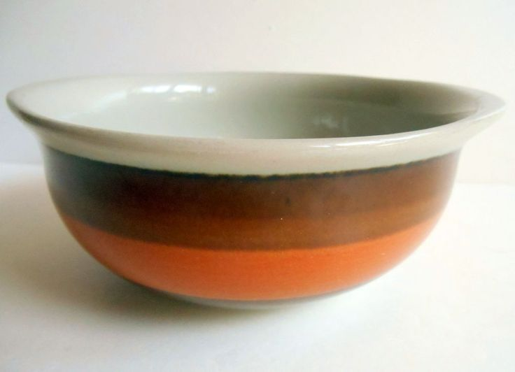 RORSTRAND SWEDEN ANNIKA Lugged Soup Cereal Bowl Mid Century Scandinavian Pottery