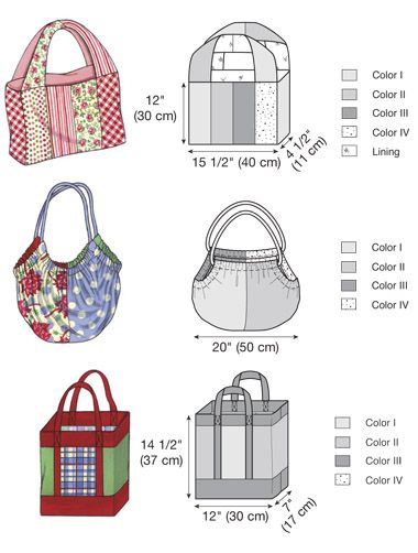 Pocketbook Patterns : Accessory & Bag Patterns - Kwik Sew Bags Pattern Sewing Patterns ...