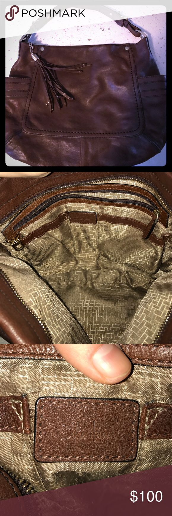 Cole Haan brown purse!! EUC Beautiful brown, gently used Cole Haan shoulder purse. Soft leather. Can post more pictures if needed! Cole Haan Bags Shoulder Bags