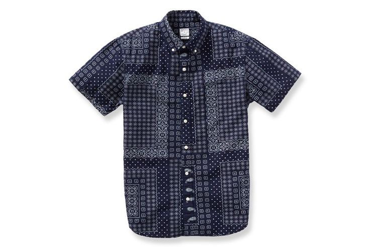 Blue bandana print shirt by Bonobos