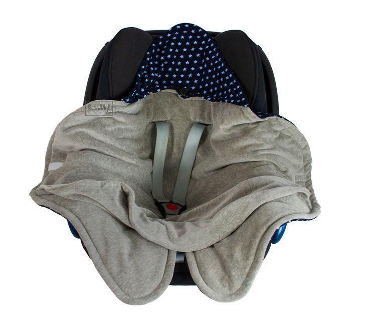 Praktische Einschlagdecke für die Babyschale Baby Einschlagdecke Babydecke Krabbeldecke aus Minky Plüsch und Baumwolle für Unterwegs in der Übergangszeit Infant car seat swaddle blanket