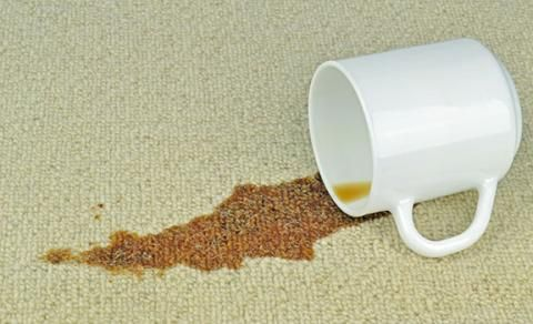 Coffee and/or coffee grounds on carpets, area rugs, or upholstery can be a pesky issue if they aren't dealt with as soon as possible. A few handy tips include blotting a coffee spill immediately with paper towels, and removing coffee grounds as soon as you can from the affected area. Use of a trusted spot removal product like Chem Dry's Spot Cleaner can help remove any evidence of the spill, if used promptly after blotting all of the liquid out.
