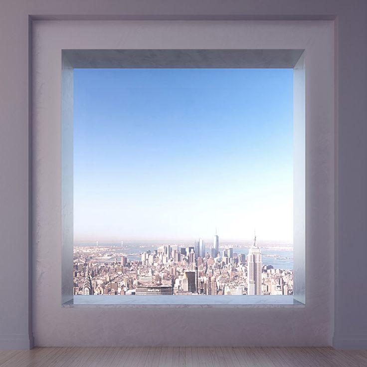 Vue de l'appartement le plus haut et époustoufflant de NYC