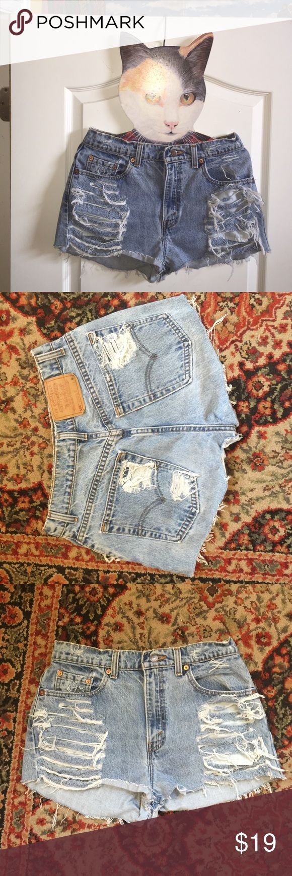 distressed Levi's NWOT size 27-28. original Levi 506. never worn urban renewal Urban Outfitters Shorts Jean Shorts