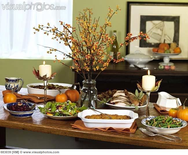 Thanksgiving Buffet Table Fall Thanksgiving Table