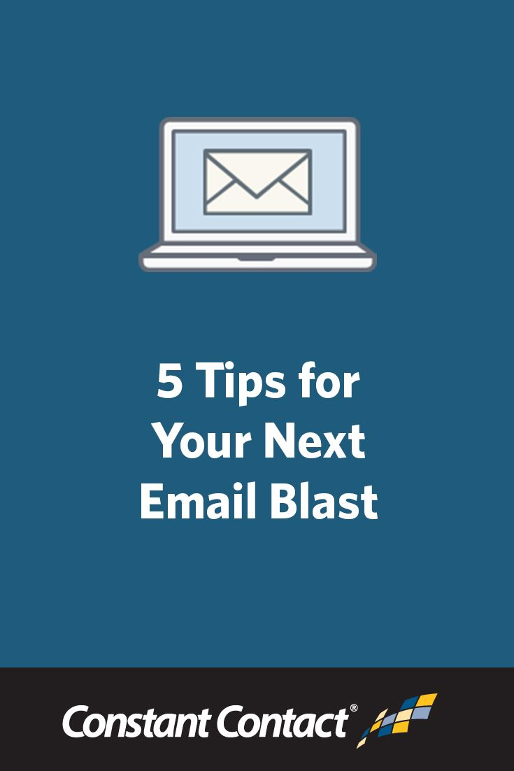 Getting ready to send your next email blast and wondering what you can do to improve your results?  This post was written for you.  Here are 5 simple tips for your next email blast, or eblast. http://blogs.constantcontact.com/product-blogs/email-marketing/email-blast-tips/?CC=SM_PIN