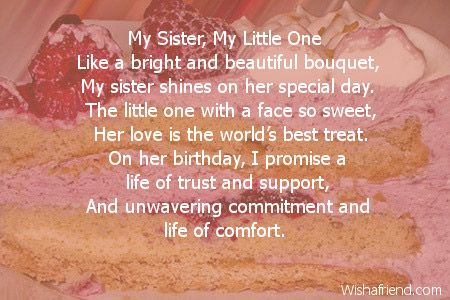 sister poems | my sister my little one like a bright and ...