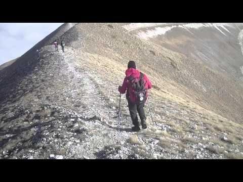 17/11/2012 Monte sibilla 2.173 m. - cima di vallelunga 2.221 m. ( monti sibillini ) - YouTube