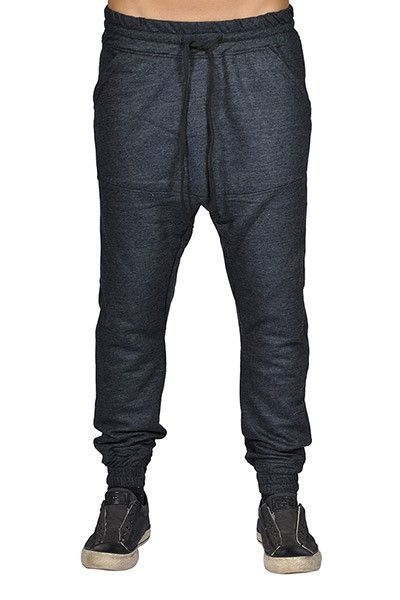 Mens Harem Trousers Hip Hop Nice Drop Soft Dark Grey Joggers