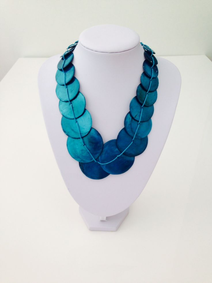 Beautiful teal shell necklace $10, go to www.melikeshoes.com.au (We always do free shipping)