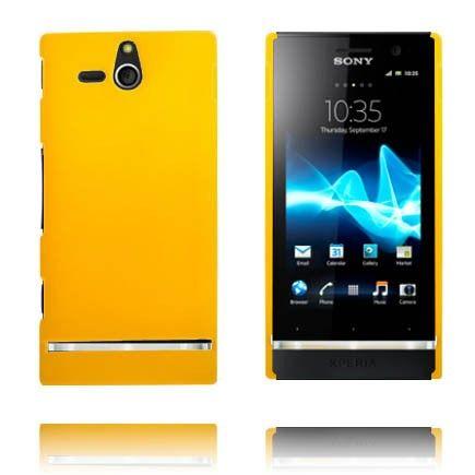 Hard Shell (Keltainen) Sony Xperia U Suojakuori