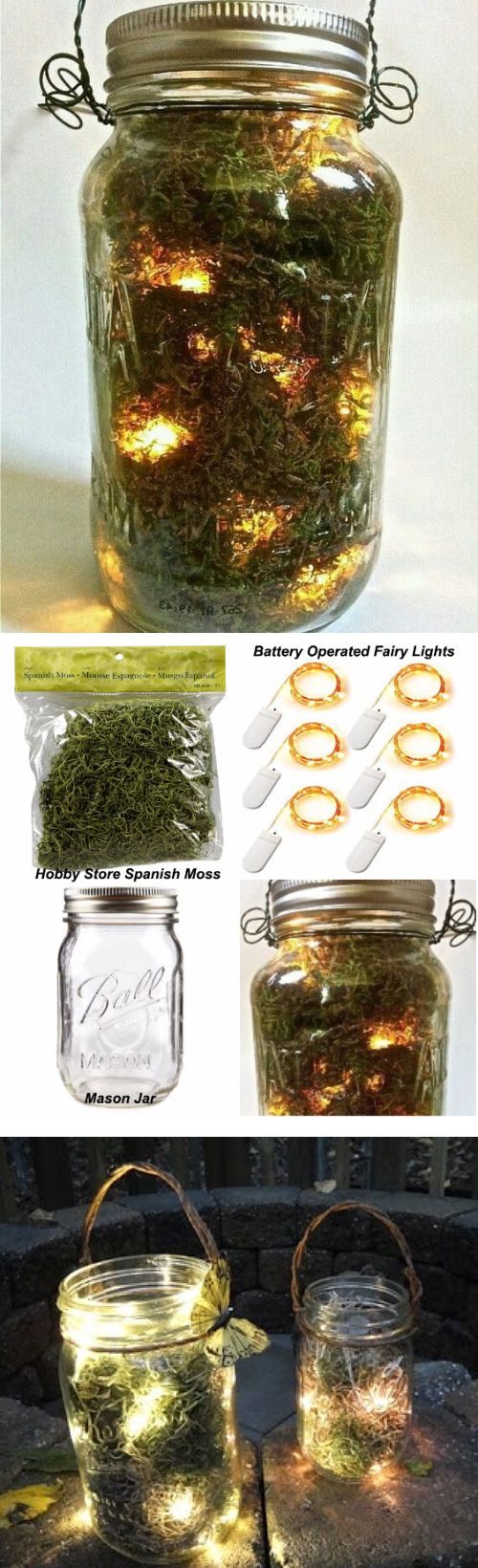 DIY: Firefly Mason Jar.  Inexpensive and an easy way to decorate. Mardi Gras Voodoo Masquerade Ball Theme Halloween Party Decorations & Ideas