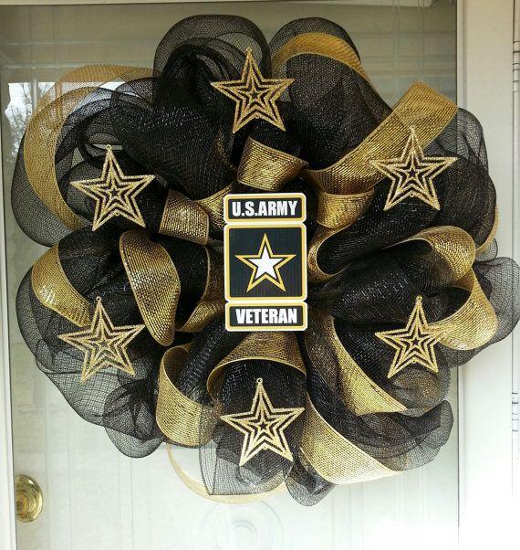 US Army Veteran Wreath by SassyCraftsinKY on Etsy, $40.00