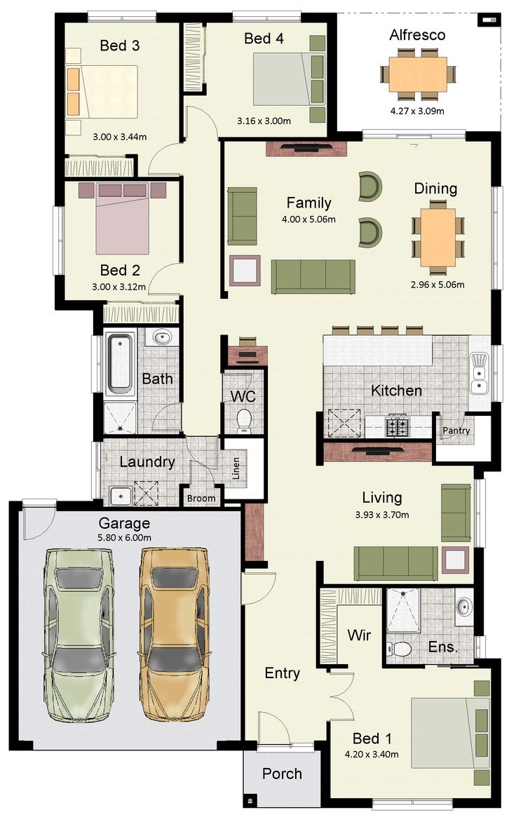 The Somerset 233 features plenty of living space and zoned bedrooms.