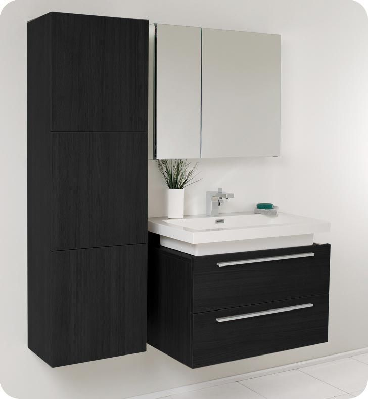 Bathroom Vanity Lighting Concept For Modern Houses: 1000+ Ideas About Black Bathroom Vanities On Pinterest
