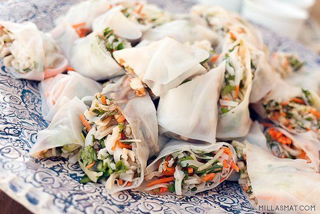 Vietnamesiske vårruller med and   Millas Mat