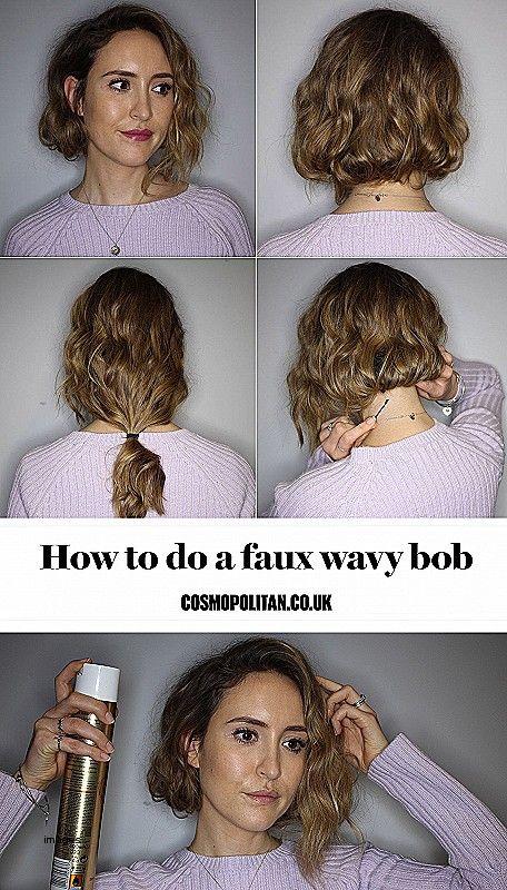 Ehrfürchtiges gefälschtes Bob-Frisuren-langes Haar