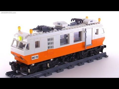 Custom LEGO Track Geometry Car (Plasser EM80 / EM110 inspired) - YouTube