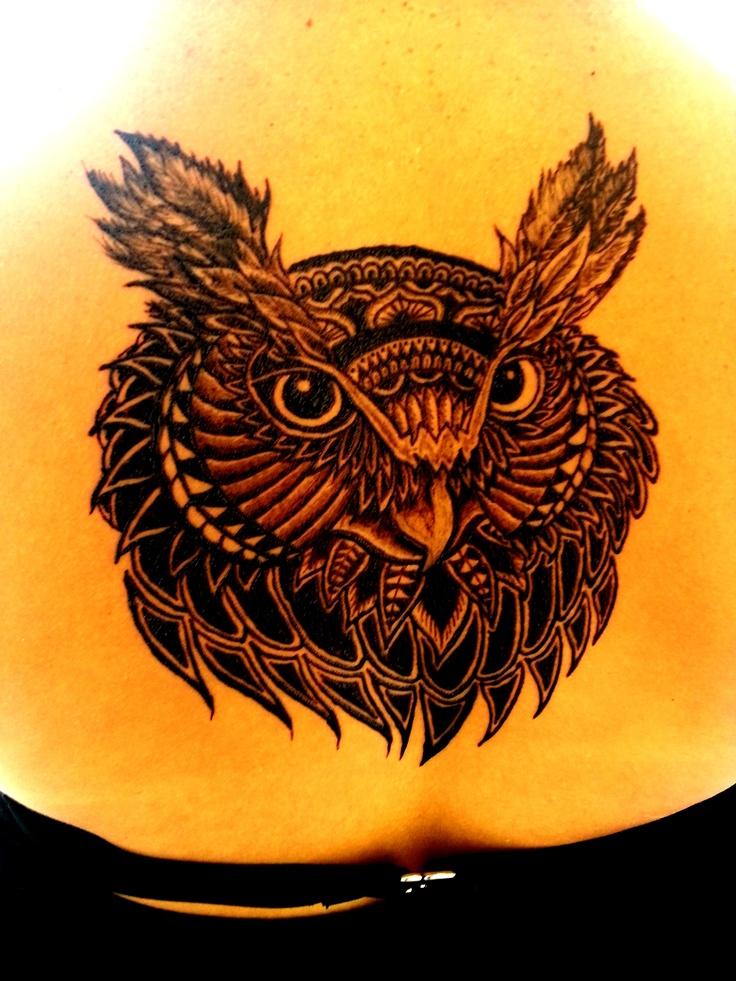 Jagua tattoo Owl