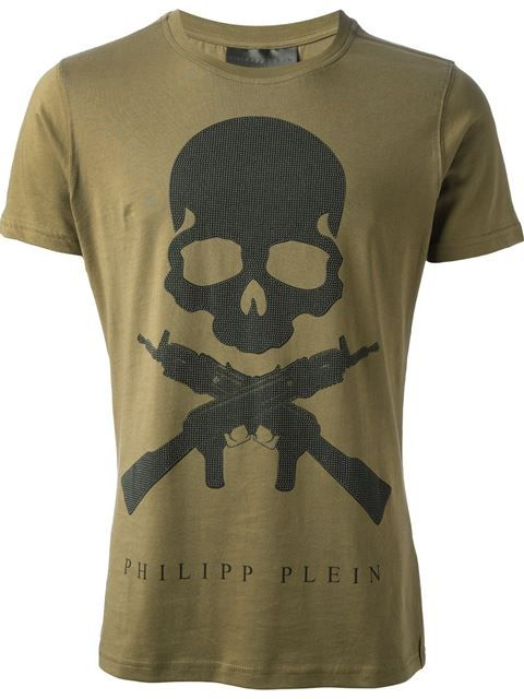 Compre Philipp Plein 'Son of a Gun' T-shirt em PL-Line from the world's best independent boutiques at farfetch.com. Over 1000 designers from 60 boutiques in one website.