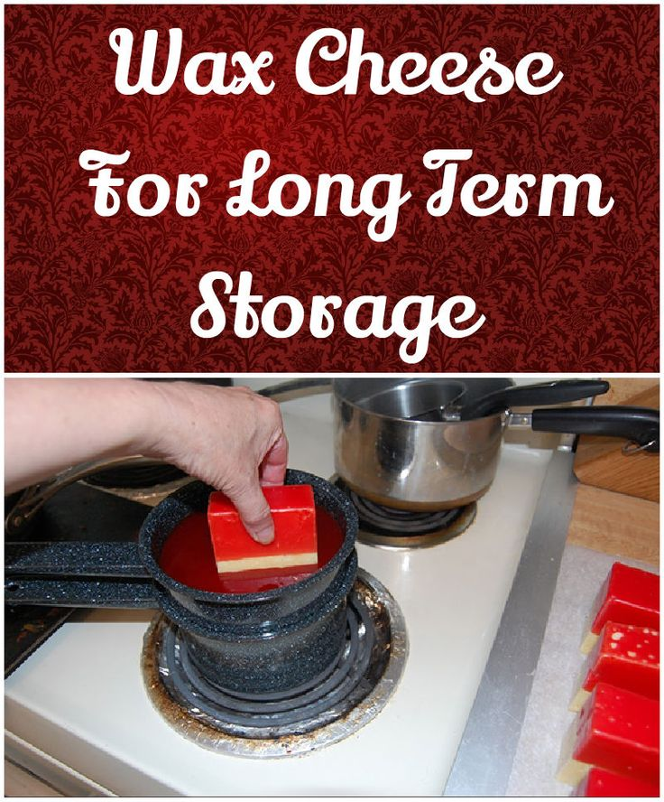 Wax Cheese For Long Term Storage | Great idea to store cheese, for gifts and emergency preparedness. #pioneersettler