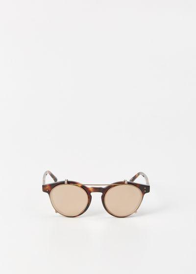 Linda Farrow Tortoise / Rose Gold Sunglasses.