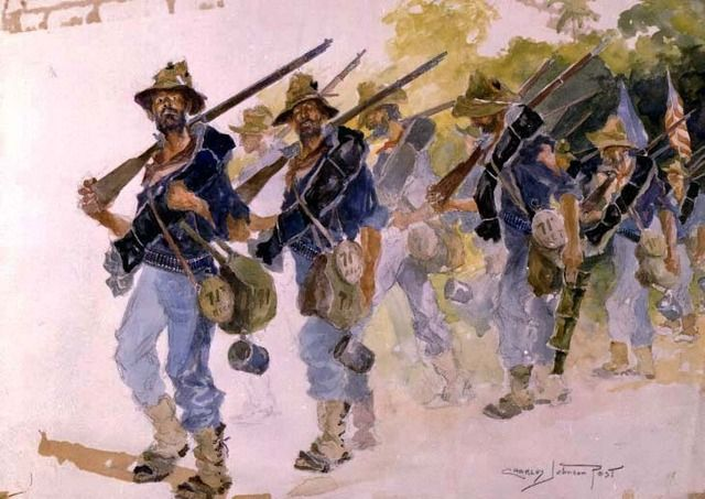 Dejamos las trincheras, 8 de Agosto de 1898 (We Leave the Trenches, August 8, 1898) - Charles Johnson Post.