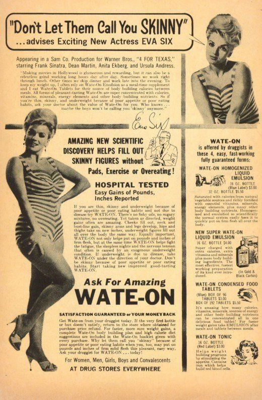 Skinny: Gain Weight, Weights Gain, Behind Adverti, Magazines Ads, Vintage Beautiful, Beautiful Tips, Vintage Magazines, Vintage Ads, Retro Vintage