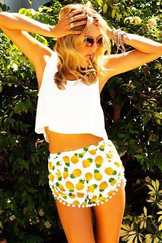 SHORTS: http://www.glamzelle.com/collections/whats-glam-new-arrivals/products/pineapple-frenzy-printed-pom-pom-shorts