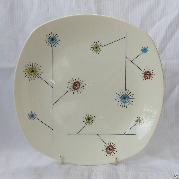 22 cm Jessie Tait FlowerMist Plate. Midwinter Stylecraft 1950s.