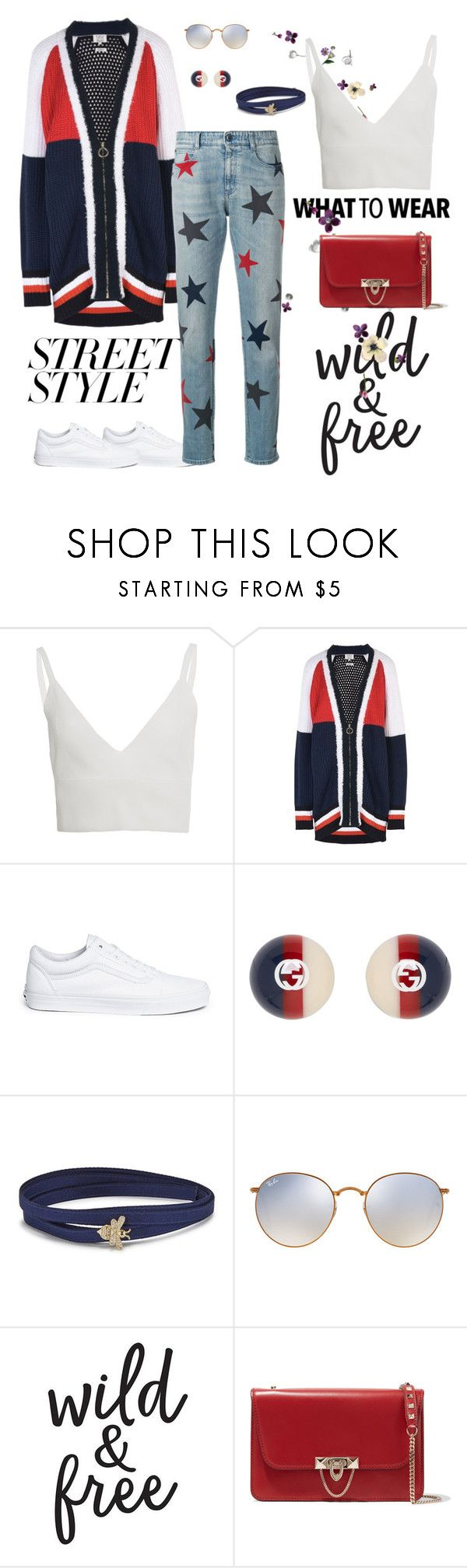 """""""What to wear~ street style ⚡️"""" by letiziacatalini-28 ❤ liked on Polyvore featuring Zeynep Arçay, Tommy Hilfiger, Vans, Gucci, APM Monaco, Ray-Ban, Valentino and STELLA McCARTNEY"""