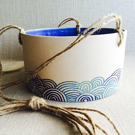 Plantador de cerámica hecha a mano