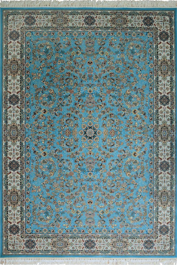 """PersicoTraditional Medallion Rugs  802012 Blue This beguiling design has us """"BLUSHING"""" with excitement.   Our Persico rug is inspired by 'Persepolis' and the rich cultural heritage of Persians. It's power loomed at 3,000,000 points per sqm (so extremely dense) with hand knotted fringes this exquisite product is the highest and finest quality woven rug we've ever had."""